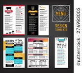 restaurant cafe menu  template... | Shutterstock .eps vector #276983003