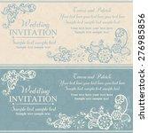wedding invitation in pastel... | Shutterstock .eps vector #276985856