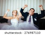wedding dance of charming bride ... | Shutterstock . vector #276987110