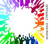 banner of happy people   Shutterstock .eps vector #276992630