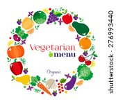vegetarian menus of restaurants ... | Shutterstock .eps vector #276993440
