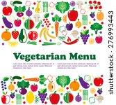 vegetarian menus of restaurants ... | Shutterstock .eps vector #276993443