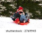 boys sledding | Shutterstock . vector #2769945
