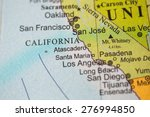 map view of california on a... | Shutterstock . vector #276994850