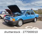 INVERNESS, SCOTLAND - MAY 9: Ford Orion on May 9, 2015 in Inverness, Scotland.The Ford Orion was built for the European market from 1983 to 1993. - stock photo