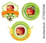 label for apple juice and... | Shutterstock .eps vector #277002368