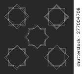 vintage square frames set ...   Shutterstock .eps vector #277004708