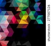 retro pattern of geometric... | Shutterstock .eps vector #277007126