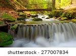 Nice Waterfall On Mountain...