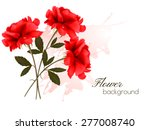 Stock vector holiday background with three red roses vector 277008740