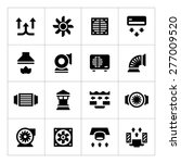 set icons of ventilation and... | Shutterstock .eps vector #277009520