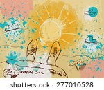 vector color picture with the... | Shutterstock .eps vector #277010528