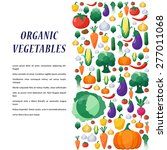 vector vegetables background in ... | Shutterstock .eps vector #277011068