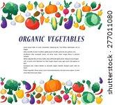 vector vegetables background in ... | Shutterstock .eps vector #277011080