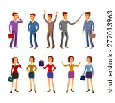 set characters for use in... | Shutterstock .eps vector #277013963