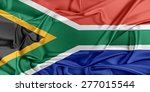 flag of south africa waving in... | Shutterstock . vector #277015544