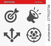 advertising icons. professional ... | Shutterstock .eps vector #277015736