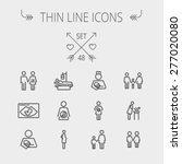 medicine thin line icon set for ... | Shutterstock .eps vector #277020080