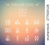 medicine thin line icon set for ... | Shutterstock .eps vector #277020128