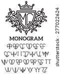 vector heraldic template... | Shutterstock .eps vector #277022624