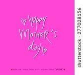 hand drawn greeting    vector   ... | Shutterstock .eps vector #277028156