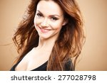 close up portrait of beautiful... | Shutterstock . vector #277028798