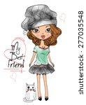 cute girls | Shutterstock .eps vector #277035548