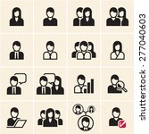 people vector icons set. office ... | Shutterstock .eps vector #277040603
