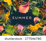 beautiful background with... | Shutterstock . vector #277046780