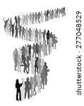 queue | Shutterstock .eps vector #277048529