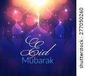 eid mubarak greeting card with... | Shutterstock .eps vector #277050260