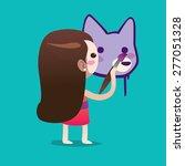 girl cute vector character... | Shutterstock .eps vector #277051328