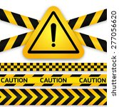 black and yellow caution... | Shutterstock .eps vector #277056620