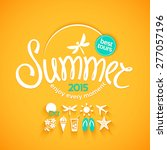 colorful lettering summer and...