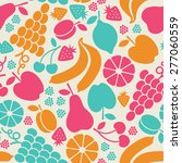 vector seamless pattern with... | Shutterstock .eps vector #277060559