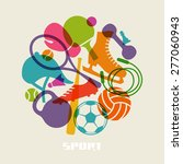 vector color sport equipment... | Shutterstock .eps vector #277060943