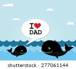 happy father's day card | Shutterstock .eps vector #277061144