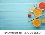 healthy juice and fresh fruits... | Shutterstock . vector #277061660