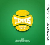 modern vector tennis ball... | Shutterstock .eps vector #277063523