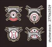 baseball tournament... | Shutterstock .eps vector #277063529
