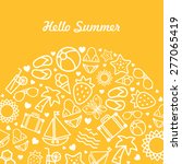 summer themed background design | Shutterstock .eps vector #277065419