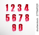 numbers set in low poly style... | Shutterstock .eps vector #277069529
