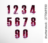 numbers set in low poly style.... | Shutterstock .eps vector #277069550