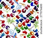 abc alphabet watercolor... | Shutterstock .eps vector #277076600