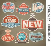 vintage label set. vector retro ...   Shutterstock .eps vector #277078676