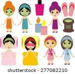 beautiful girl day spa   Shutterstock .eps vector #277082210