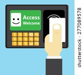 rfid card  access control | Shutterstock .eps vector #277089578