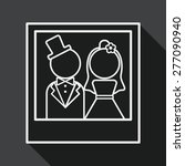 wedding photo flat icon with... | Shutterstock .eps vector #277090940