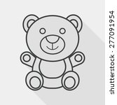 teddy bear flat icon with long... | Shutterstock .eps vector #277091954