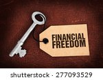 key to financial freedom | Shutterstock . vector #277093529